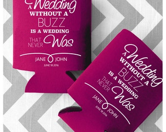 custom can can cooler a wedding without a buzz is a wedding that never was