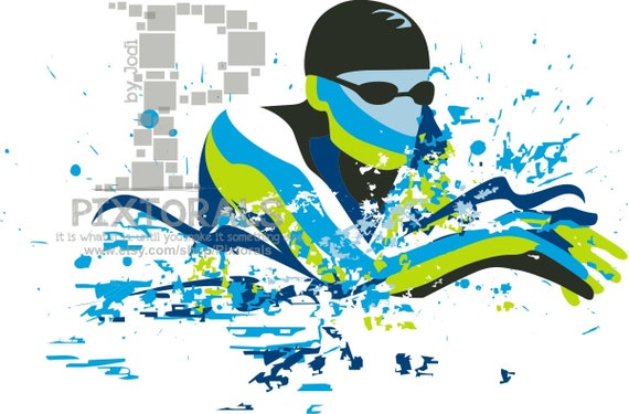 swimmer breast stroke vector set of eps jpeg png