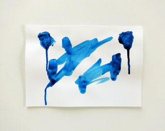 Original Painting // Painting on Paper // Acrylic Painting // Abstract Art