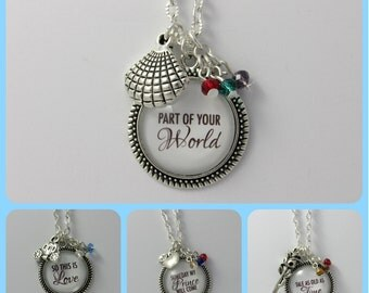 Disney Princess Quote Necklace