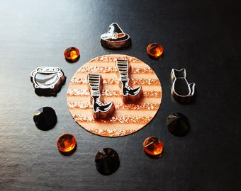 Halloween Floating Charm Set for Floating Lockets-Witch Theme-Gift Idea