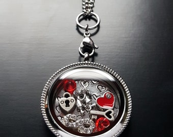 Valentine's Day Floating Locket Necklace Set-Gift Ideas for Women