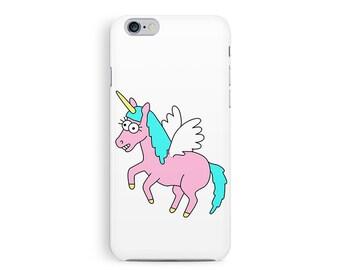 Unicorn iPhone 6 case, Cute iPhone 6 Case, Unicorn pattern, Kawaii iPhone 6 Case, Plastic Phone Case, iPhone 6 Cover, Girls iPhone 6 case
