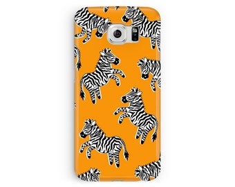 For Samsung S5, Zebra Phone Case, Samsung Case, S5 Case, Zebra Print Samsung S5 Case, Burnt Orange, Samsung Galaxy S5, Zebra Drawing, Cute