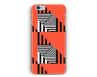 Phone SE Case, iPhone 5S case, 5s Cover, iPhone 5 cover, Orange iphone case, Geometric Phone case, Memphis Phone Case, iPhone 5 Case Hipster