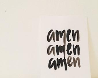 amen 5x7 print
