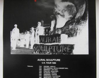 Original 1985 The Stranglers 'Aural Sculpture' UK Tour Poster