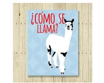 Llama Magnet, Funny Magent, Refrigerator Magnet, Como se Llama, Gifts Under 10, Small Gift, Animal Art, Llama Art, Funny Pun, Animal Pun