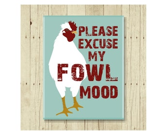 Funny Magnet, Chicken Magnet, Funny Pun, Chicken Gifts, Chicken Lady, Rooster Art, Cute Fridge Magnet, Cute Magnets, Gifts Under 10