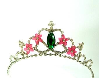 FROZEN FEVER Crown , Frozen Fever Tiara, Frozen Fever Headband ,Flowers Elsa Frozen Fever Green Tiara Crown ,Frozen Fever Costume Crown