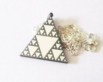 Sirpinski triangle pendant