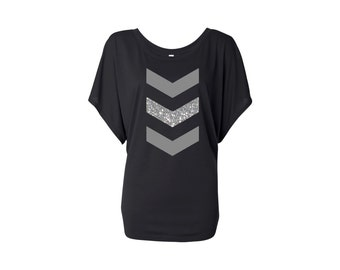 Soft Chevron Dolman sleeve Ladies T-shirt
