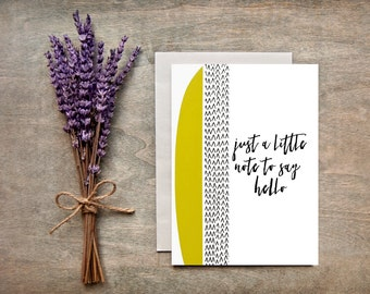 Thinking of you/Hello Greeting Card