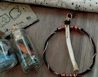 rib bone necklace