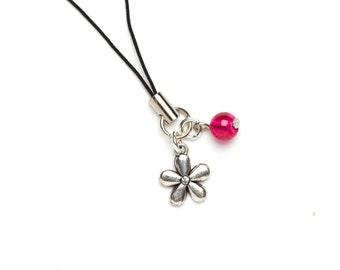 Flower Charm | Pink Flower Planner Charm | Flower Phone Charm | Mobile Phone Charm | Planner Accessory