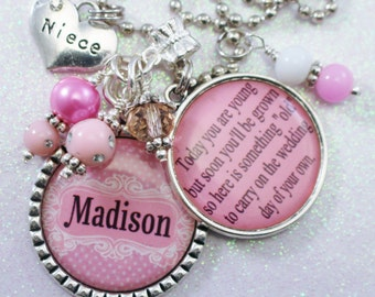 PERSONALIZED JR. BRIDESMAID Gift, Personalized Jr. Bridesmaid, Girl Wedding Gift, Wedding Jr. Bridesmaid Necklace, Jr. Bridesmaid Jewelry