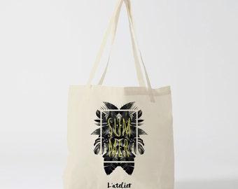 tote bag summer, bag canvas cotton bag, diaper bag, handbag, tote bag, bag of race, current bag, shopping bag, gift for friend, gift