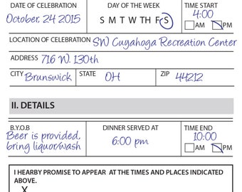 Police Retirement/Birthday Invitation