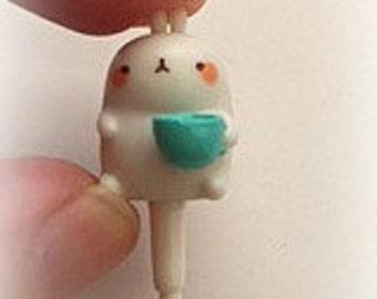 Molang Dust Plug Cover, Anti-Dust Plug for Cell Phone, 3.5mm phone plug, headphone plug charm
