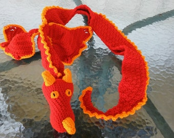 Dragon Scarf - Adult Dragon Scarf - Teen Dragon Scarf - Crochet Dragon Scarf - Adult Scarf - Teen Scarf