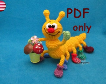 Caterpillar, amigurumi crochet pattern