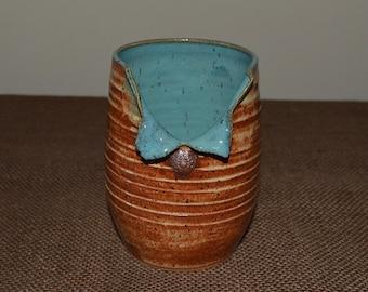 crock, pottery crock, kitchen crock, utensil holder, kitchen pottery, spoon holder, vase, flower vase, pottery vase