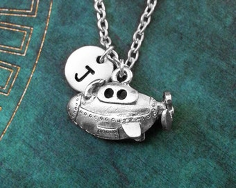 Submarine Necklace SMALL Submarine Charm Necklace Submarine Jewelry Steampunk Jewelry Sub Necklace Personalized Jewelry Steampunk Necklace