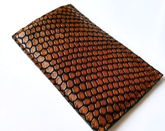 Brown Leather iPhone Case, Leather Phone case