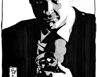"Sean Connery (8"" x 10"" Inktober Print)"
