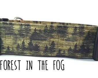 Boy Dog Collar - Forest Dog Collar - Adventure Dog Collar - Camping Dog Collar - Woodland - Hiking - (Standard, Metal Buckle, or Martingale)