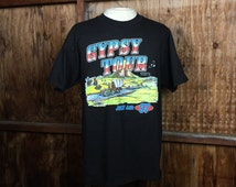 Vintage, VTG, Dead Stock, 1997 Gypsy Tour Hollister 50 Years T-Shirt Sz. Large Made in USA Motorcycle Bolado Park Harley Davidson