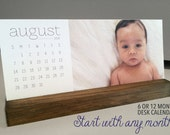 Photo Desk Calendar // Custom Photo Calendar // Calendar with Stand // Personalized Calendar // Custom Desk Calendar