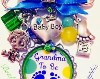 Grandma To Be Bottlecap Pin (BOY)