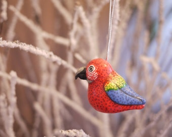 Scarlet MacawChristmas  Ornament