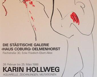 Karin Hollweg Vintage Poster 1989