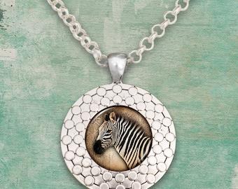 Zebra Pendant Necklace - 57838