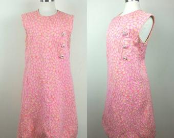 60s Mod Dress Paisley Print L+