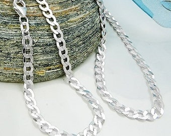 Chain armor flat, silver 925