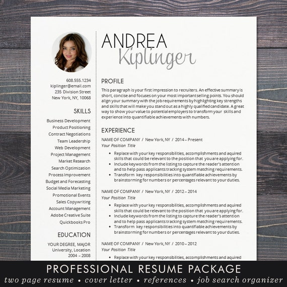 Resume Template CV Template for Word Mac Pages