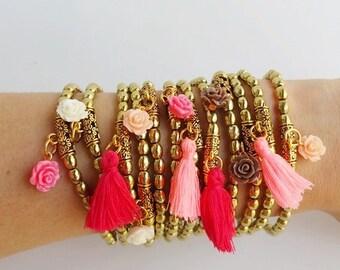 Coachella jewelry - festival bracelets - Bohemian Festival - boho bracelet - Hippie Bracelets - Stacking Bracelets - gipsy bracelets - boho