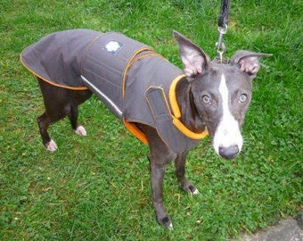 Whippet Winter Dog Coat with underbelly protection -  Dog Jacket - Waterproof / Fleece dog clothes - Custom made for your dog