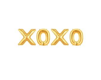 XOXO Letter Balloons, XOXO Balloon Banner, Hugs & Kisses Letter Balloons, Gold Letter Balloons, Love Letter Balloons, Gold Wedding Balloons