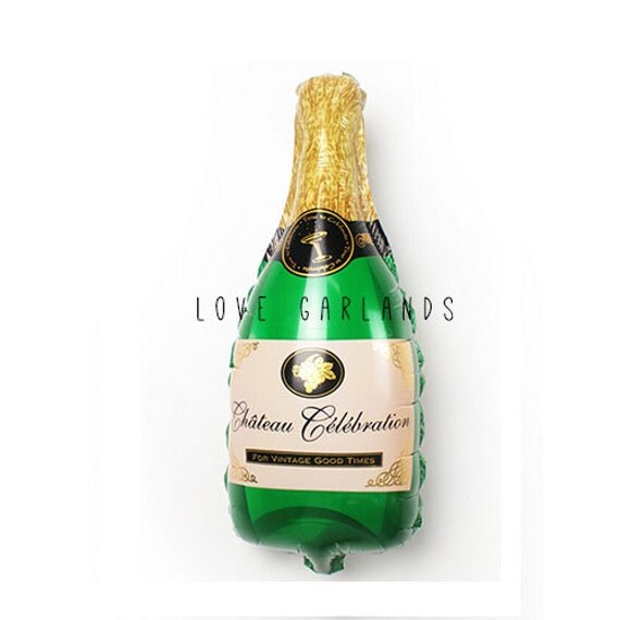 """Decorated Alcohol Bottles For Birthday: 16"""" Champagne Bottle Balloon, Alcohol Balloon, Funny Foil"""