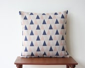 "20"" x 20"" Geometric Triangles Pastel Peach Blue Decorative Pillow Cover Cushion Cover Throw Cushion Cover Scandinavian 133"