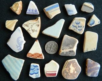 19 Genuine beach found pottery shards