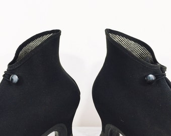 vintage high heel galoshes, rain boots, rubber overshoe by Gaytees, women's size 7