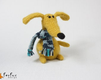 Plush dog Plush dachshund puppy Stuffed dog Plush puppy Dog lover gift Stuffed animals toy Soft dog toy Fluffy plushie dog Hand knitted dog