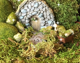 Fairy garden kit, Fairy door, gnome door, hobbit door, troll door, stone door, fairy garden house, fairy garden door, fairy garden kit