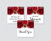 Red Baby Shower Printable...