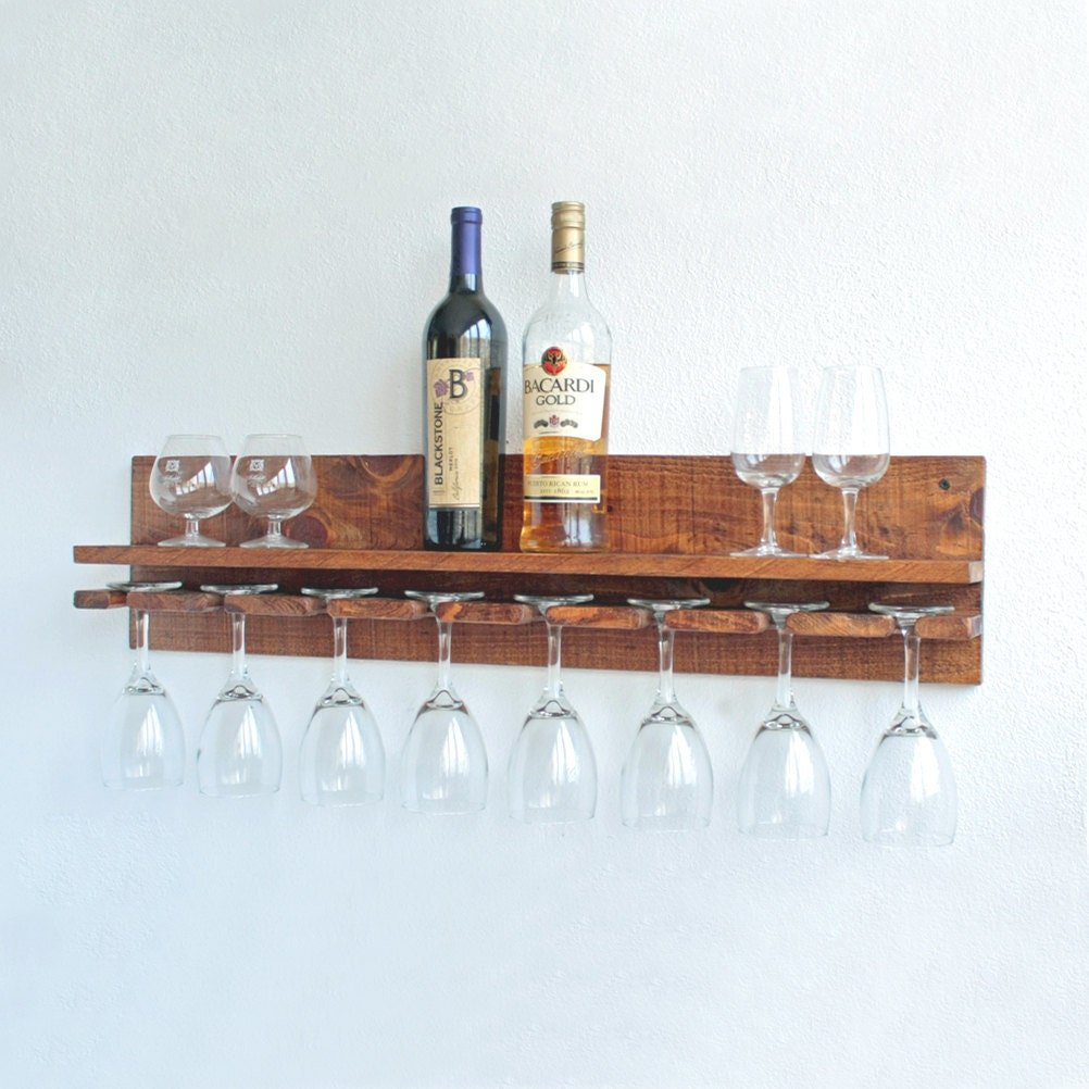 Wine Glass Rack Hanging Wine Glass Rack Rustic Wine Glass